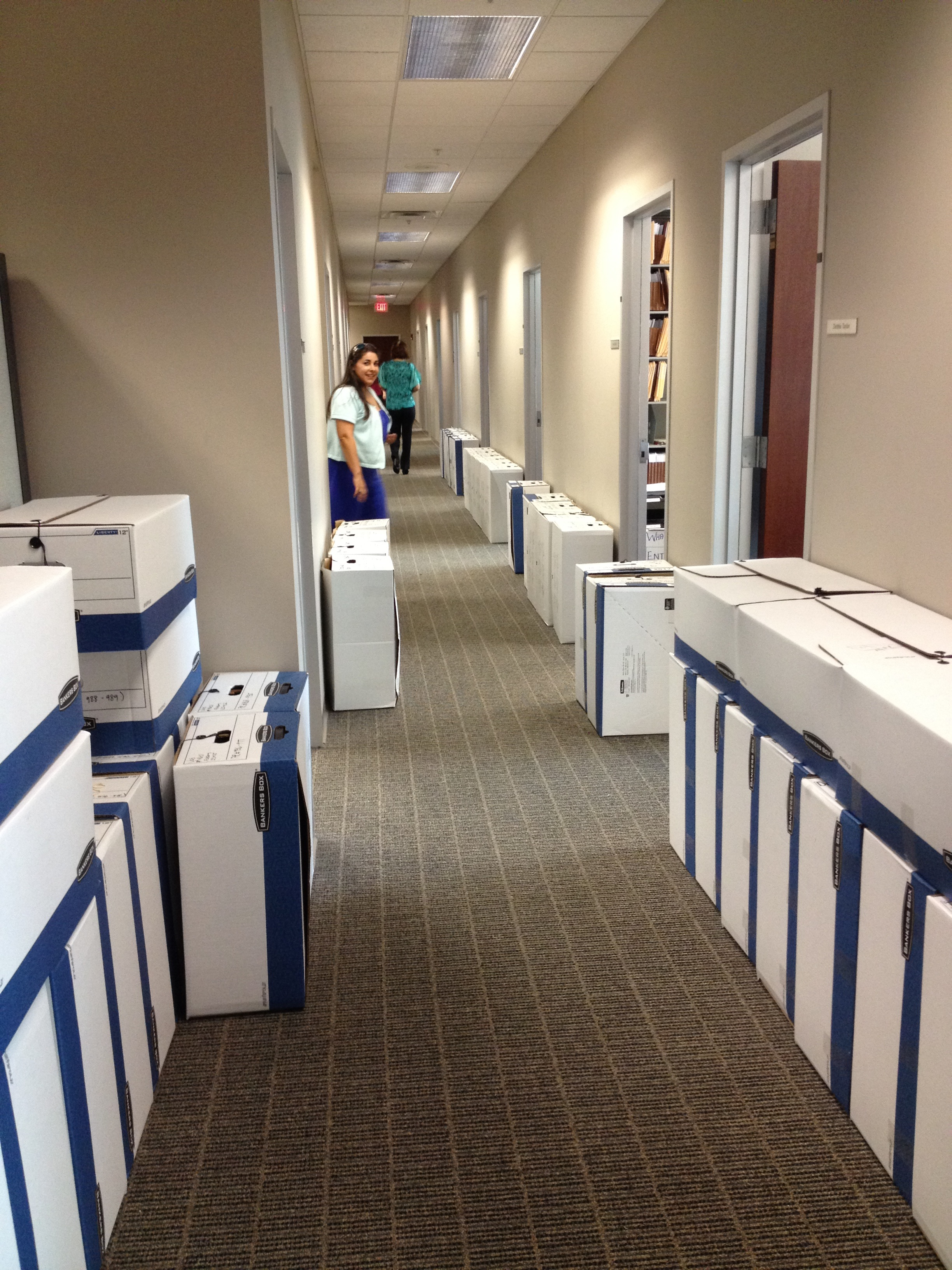 Files in hallway